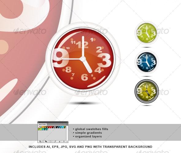 Wall Clock 01 - Retro Technology