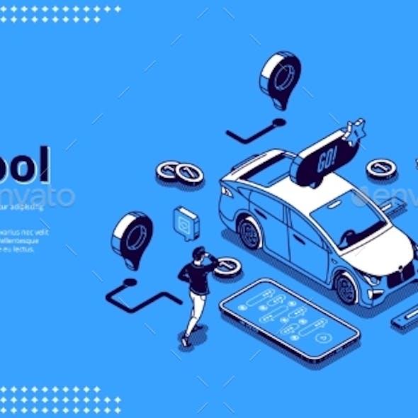 Landing Page of Carpool Service