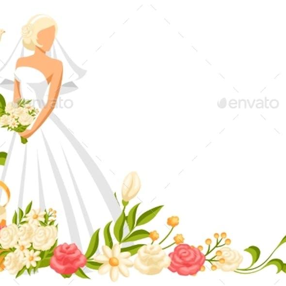 Wedding Illustration of Bride