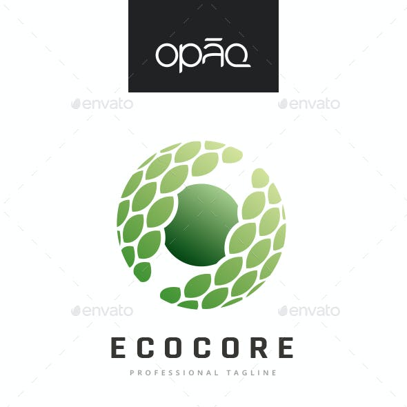 Ecological Nature Sphere Core Logo