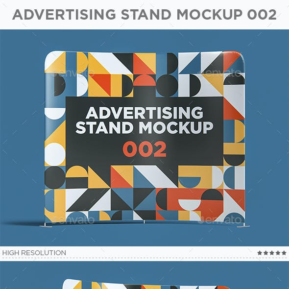Advertising Stand Mockup 002