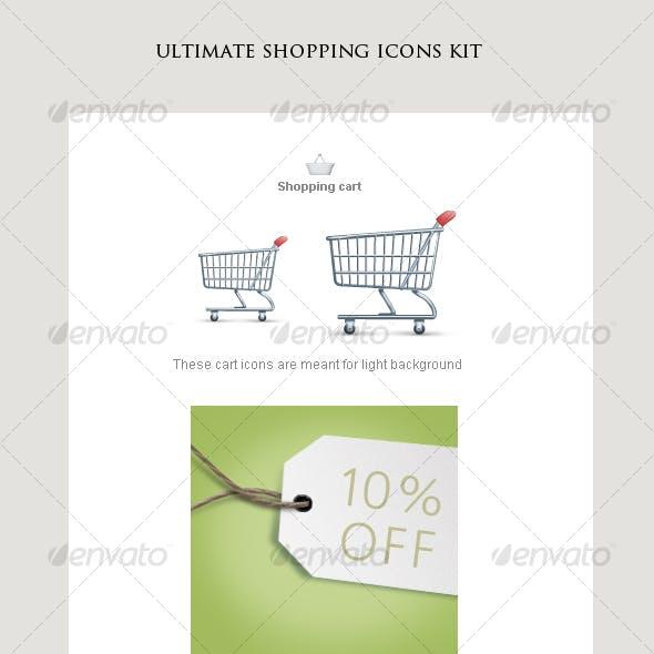 shopping icons kit