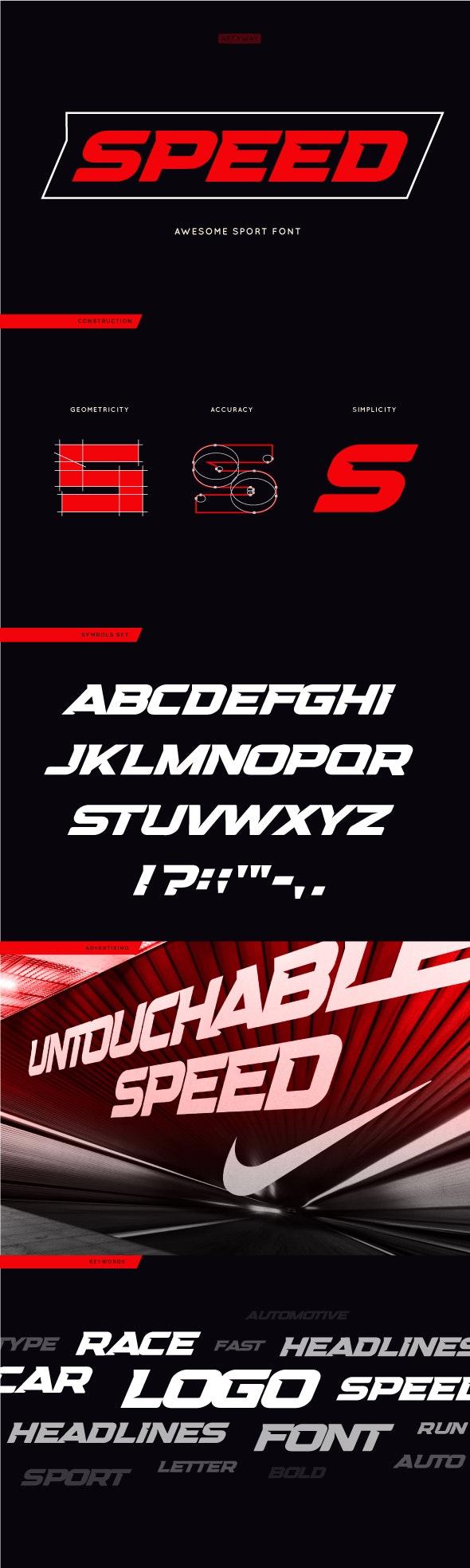 Headline Speed Font - Sans-Serif Fonts