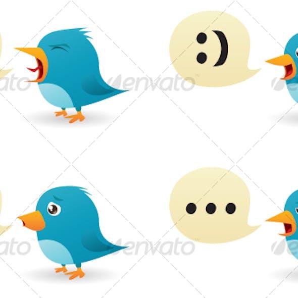 Twitter Birds Set