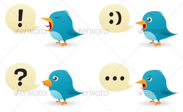 Twitter Birds Set - Communications Technology