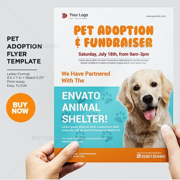 Pet Adoption Sevice Flyer Template