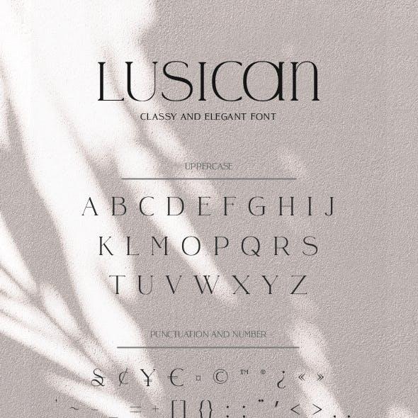 Lusicant - Sans Serif Display Font