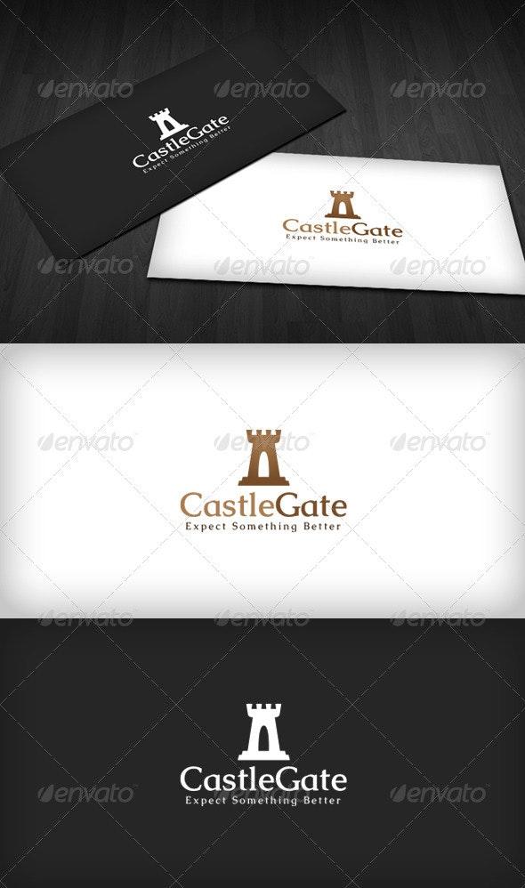 Castle Gate Logo - Buildings Logo Templates