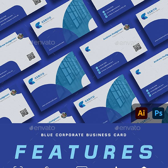 Blue Corprorate Business Card