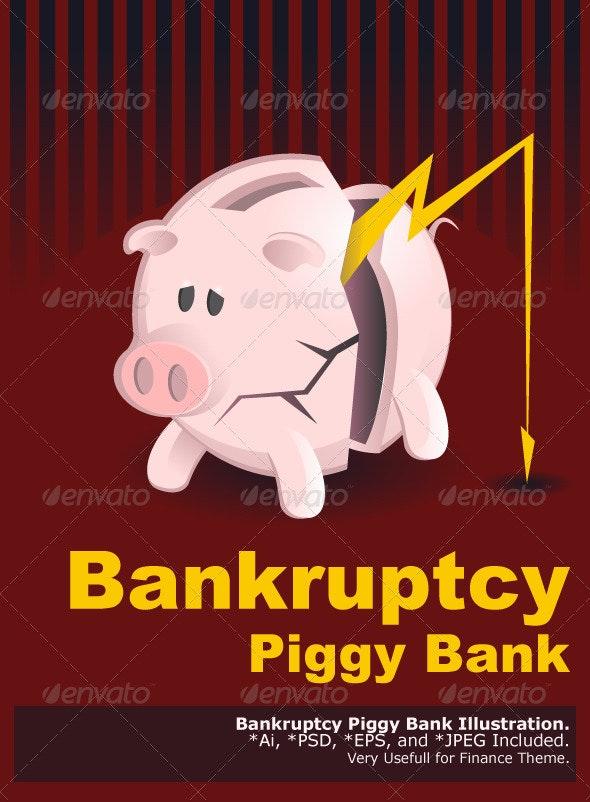 Bankruptcy Piggy Banks - Concepts Business