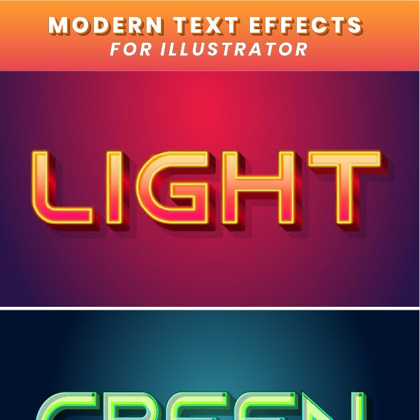 Modern Fancy Text Effect for Illustrator