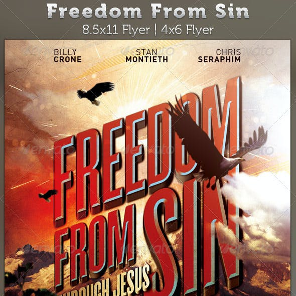 Freedom From Sin Church Flyer Template