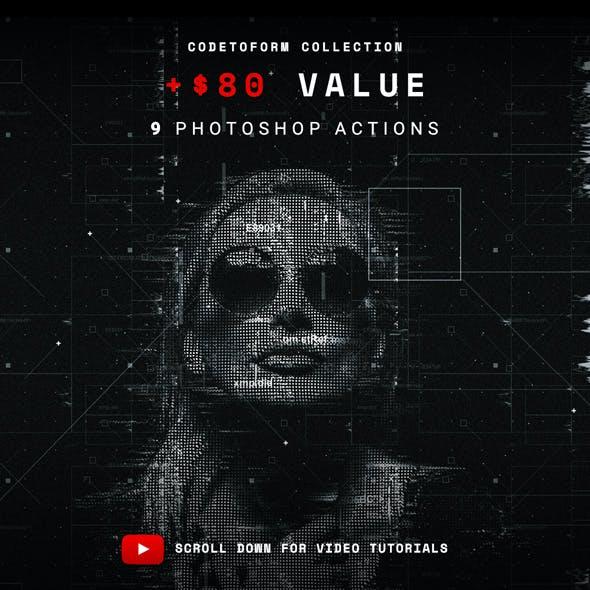 Codetoform Collection Photoshop Action Bundle