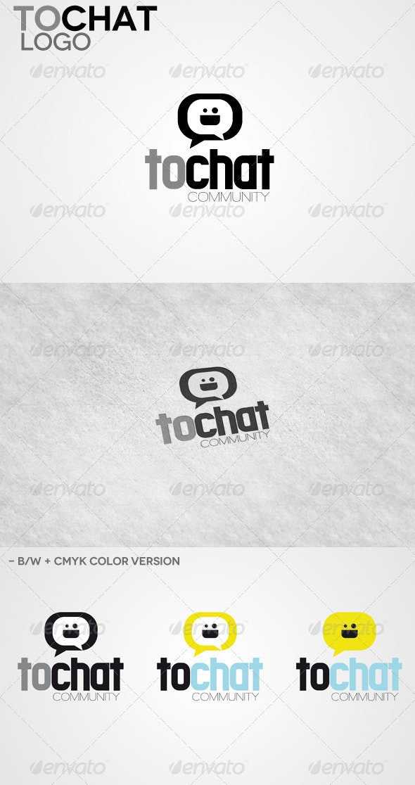 To Chat Logo - Vector Abstract
