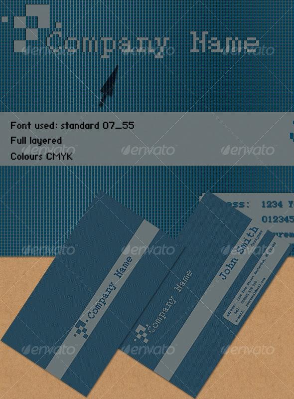 Pixelate card - Creative Business Cards