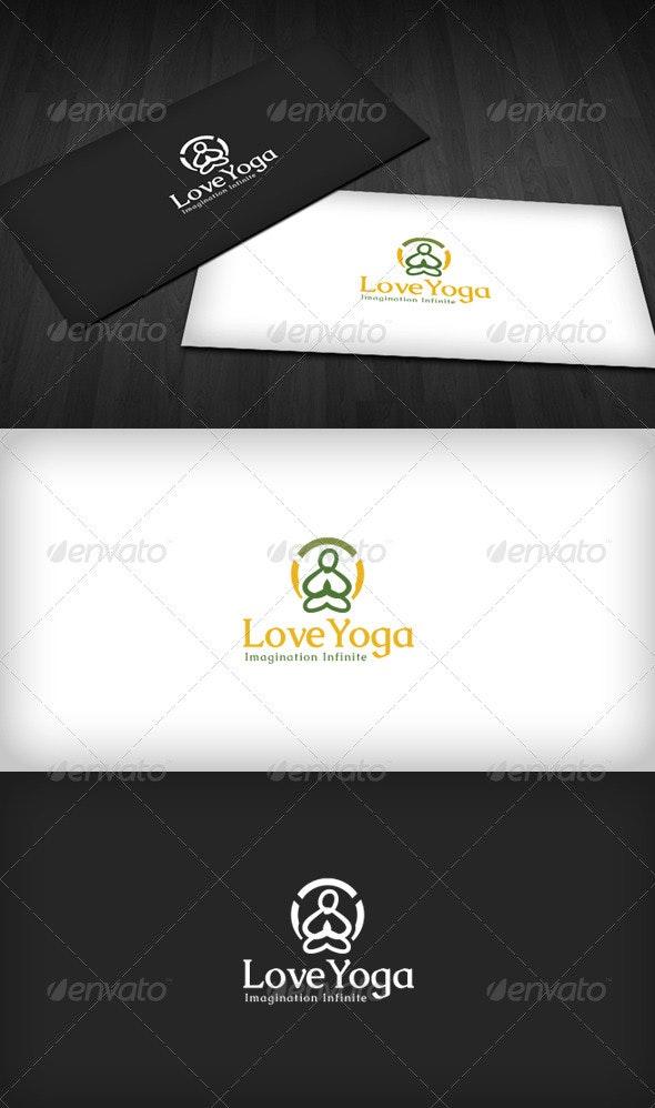Love Yoga Logo - Humans Logo Templates