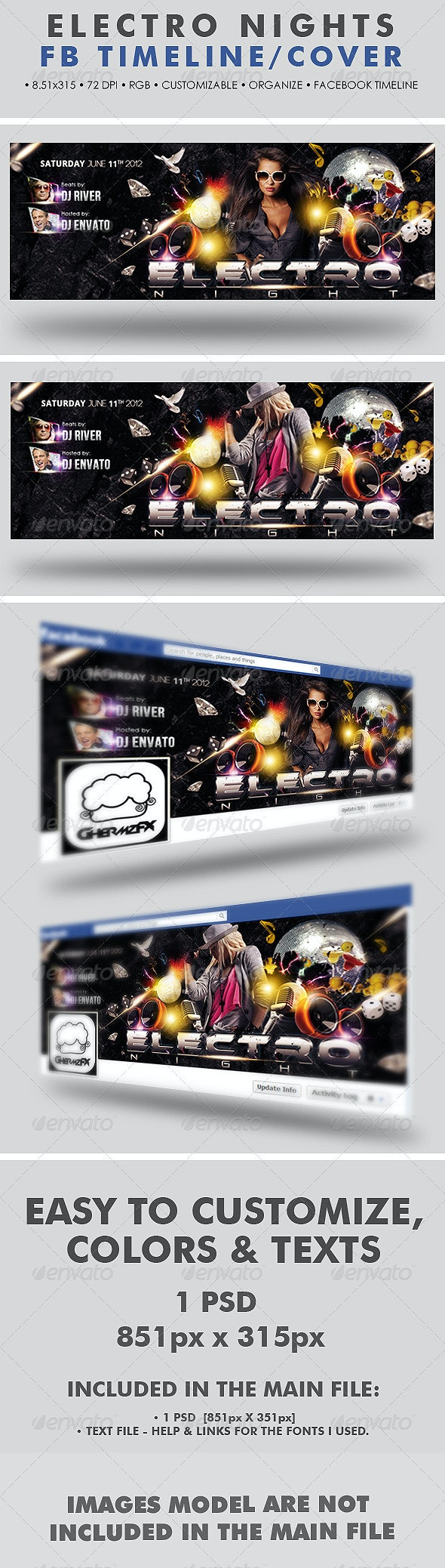 Electro Nights Facebook Timeline Cover - Facebook Timeline Covers Social Media