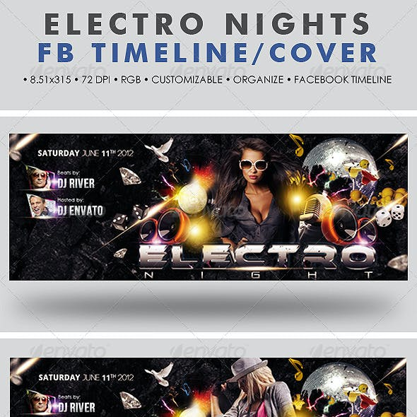 Electro Nights Facebook Timeline Cover