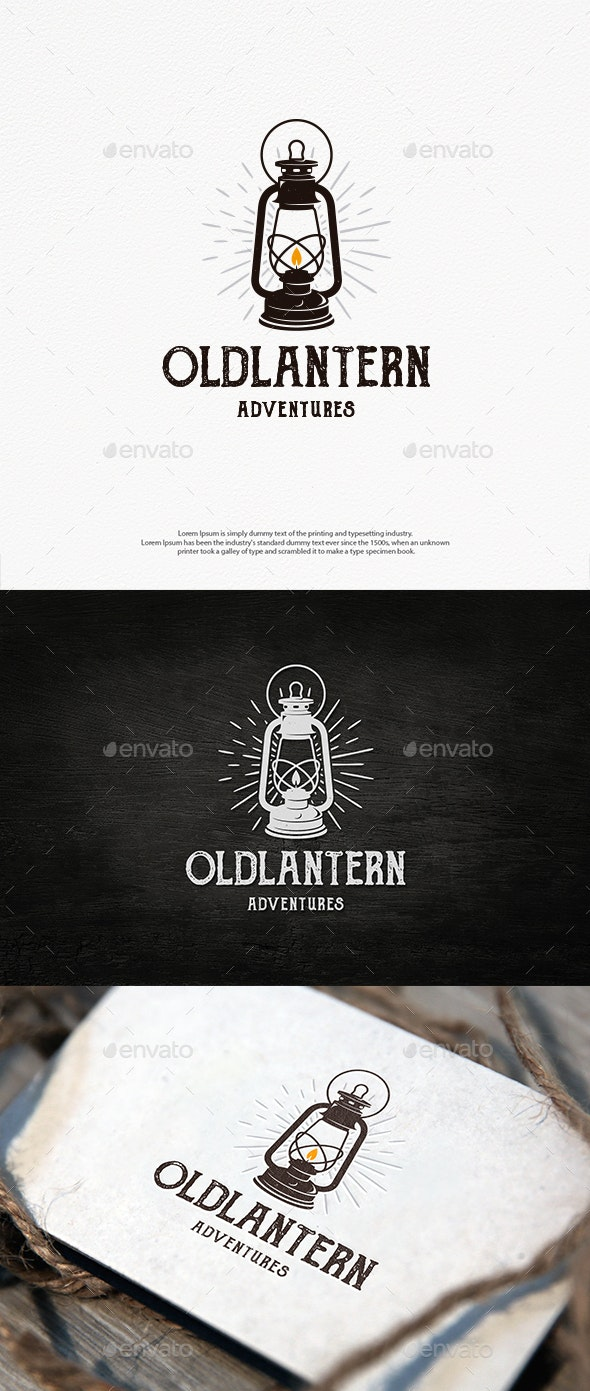 Old Lantern Logo Template - Objects Logo Templates