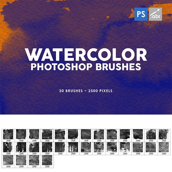 Watercolor Texture Photoshop Brushes Vol. 2
