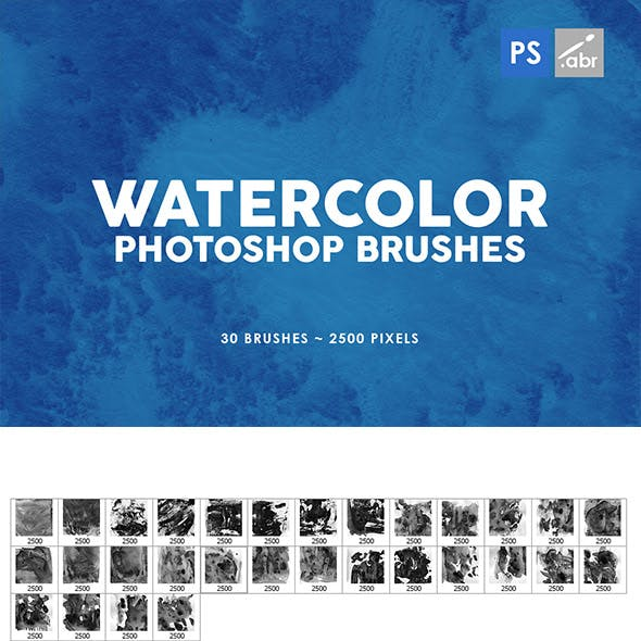 Watercolor Texture Photoshop Brushes Vol. 3