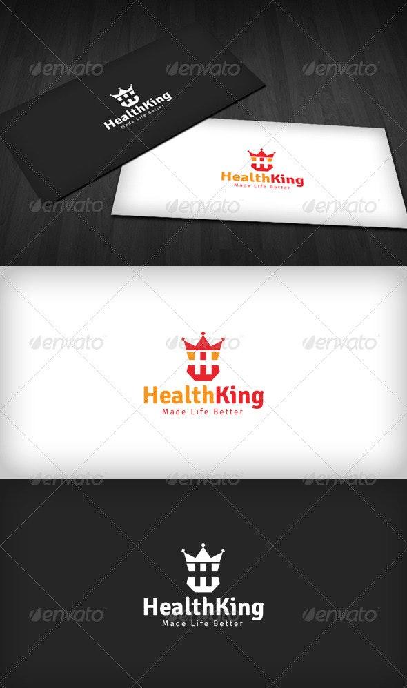 Health King Logo - Letters Logo Templates