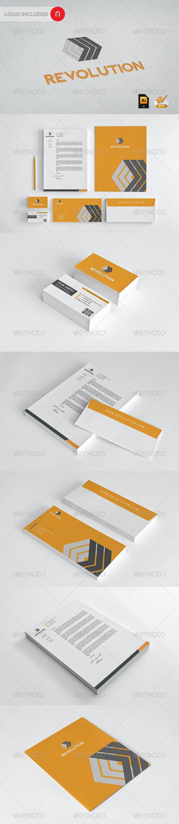 Revolution Corporate Identity - Stationery Print Templates