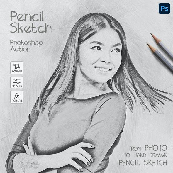 Pencil Sketch - Photoshop Action