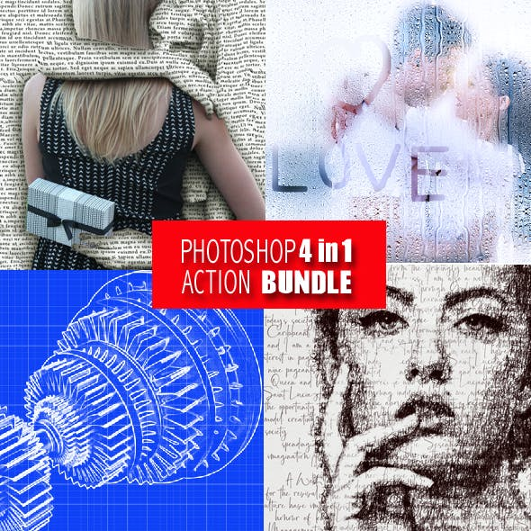 Photoshop 4in1 Actions Bundle V 7