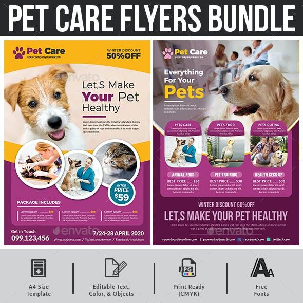 Pet Care Flyers Bundle