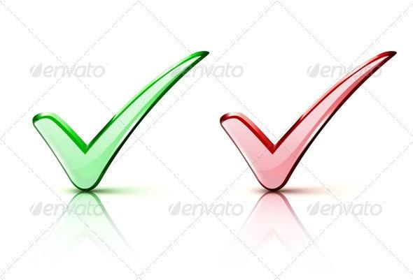Check mark Icons - Web Elements Vectors