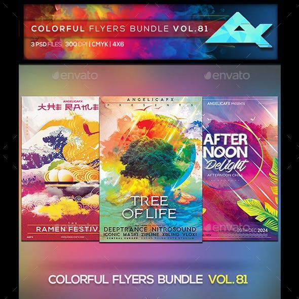 Colorful Flyers Bundle Vol. 81