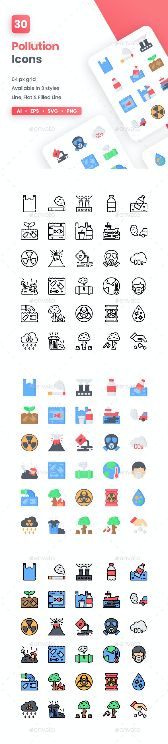 Pollution Icons - Miscellaneous Icons