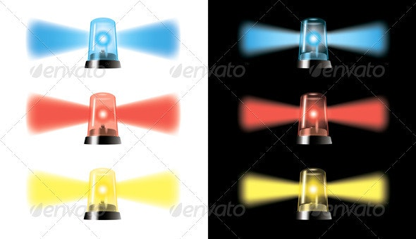Visual Warning Lights - Special Cars Signal - Miscellaneous Vectors
