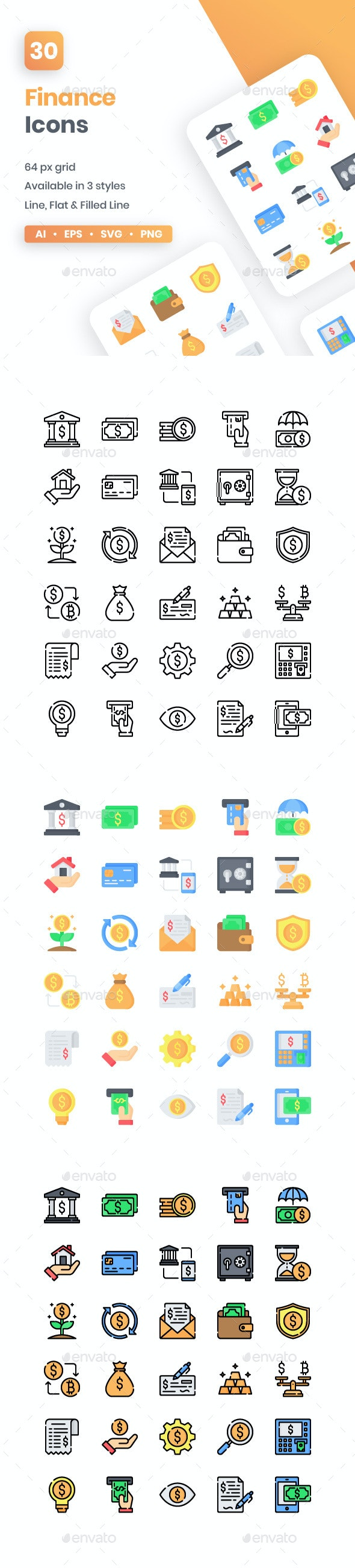 Finance Icons - Business Icons
