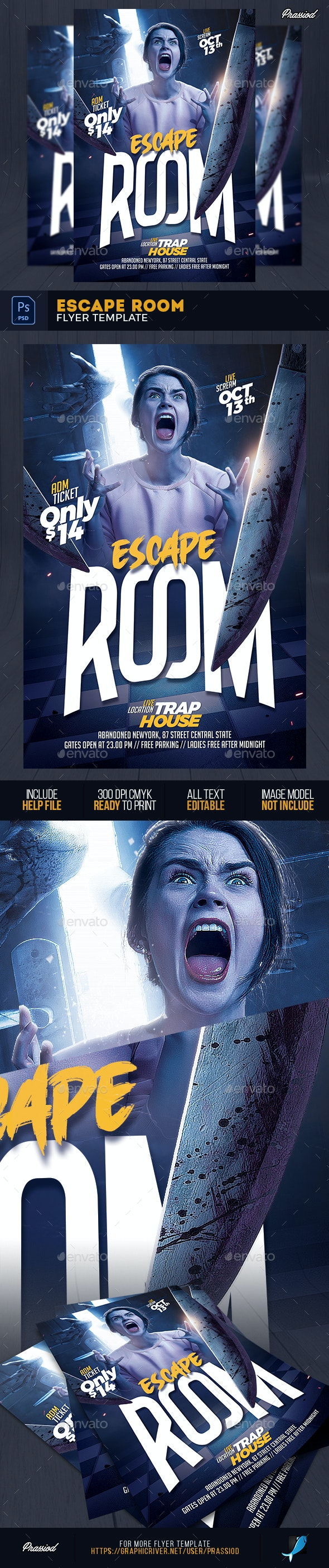 Escape Room Flyer Template - Events Flyers