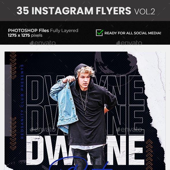 35 DJ & Club Party Instagram Flyer Bundle Vol.2