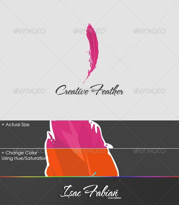 Creative Feather Logo Template - Symbols Logo Templates