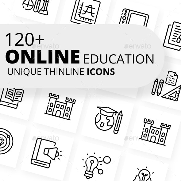Online Education Icons - Business Icons