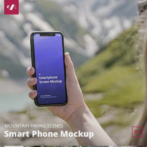 Phone Mockup Mountain Hiking Scenes