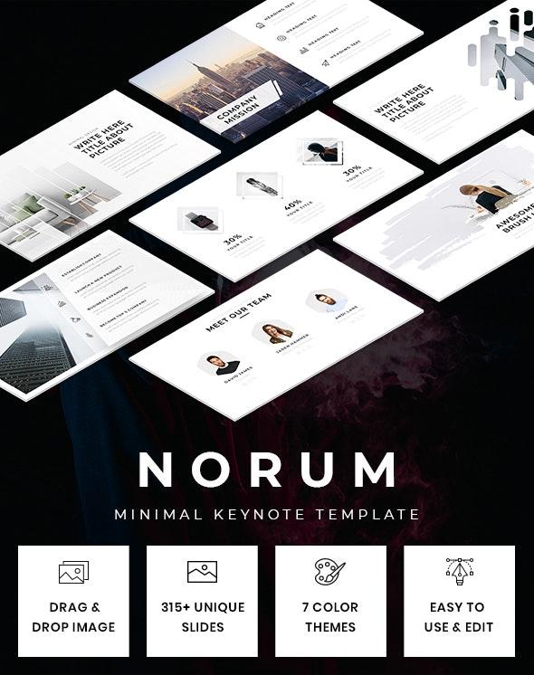 Norum - Minimal Keynote Template - Creative Keynote Templates