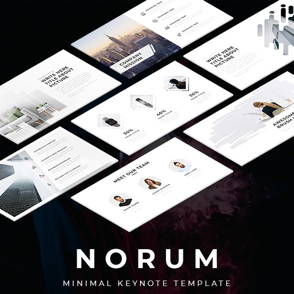 Norum - Minimal Keynote Template