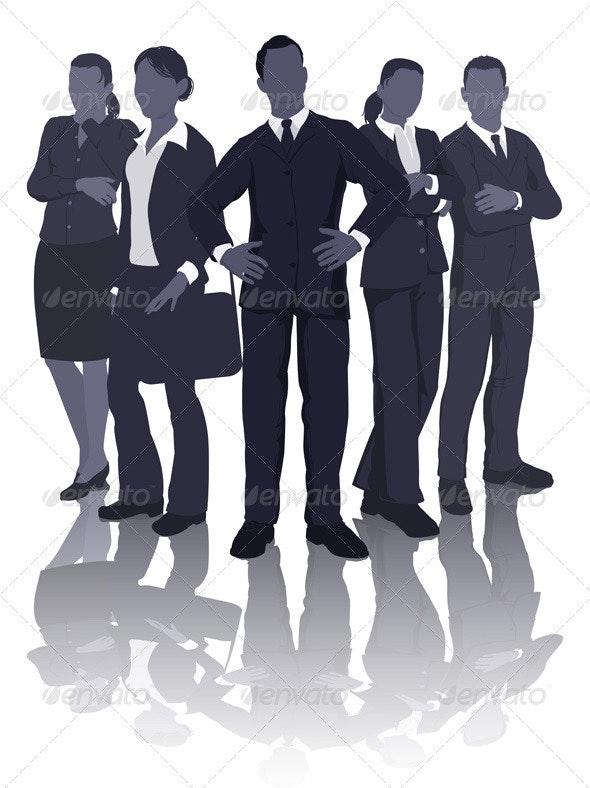 Business team illustration - Business Conceptual