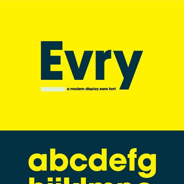 Evry Display Sans Font
