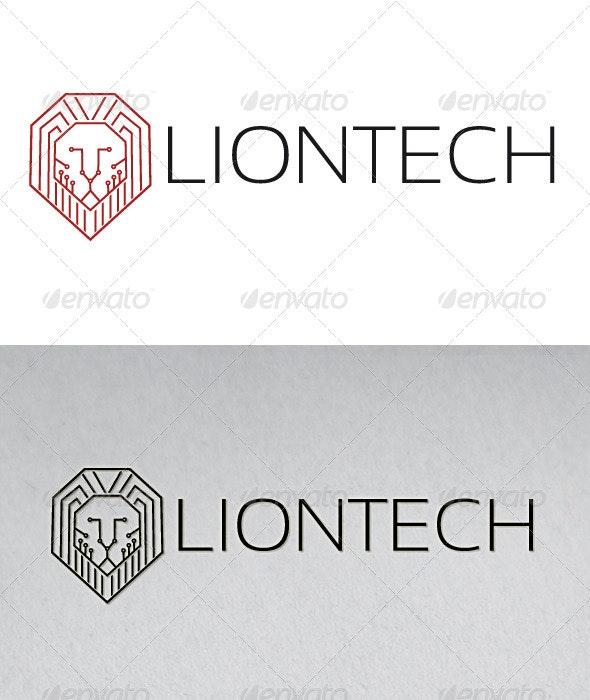 Lion Tech Logo - Animals Logo Templates