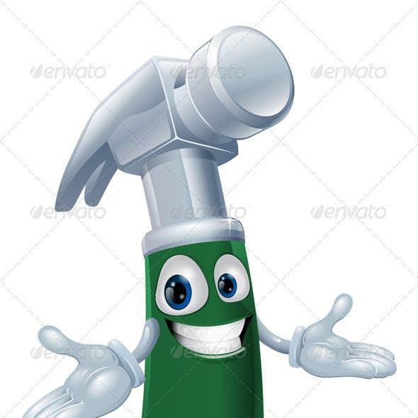 Hammer cartoon mascot