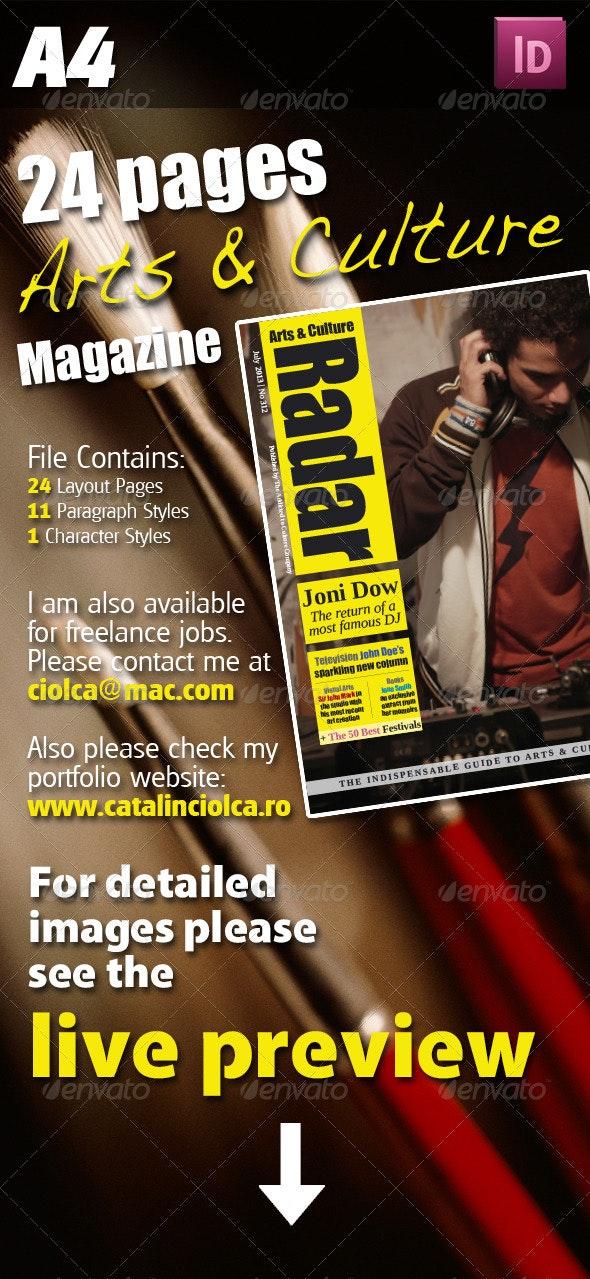 24 Pages Arts & Culture Magazine - Magazines Print Templates