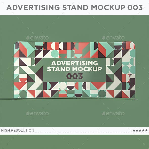 Advertising Stand Mockup 003