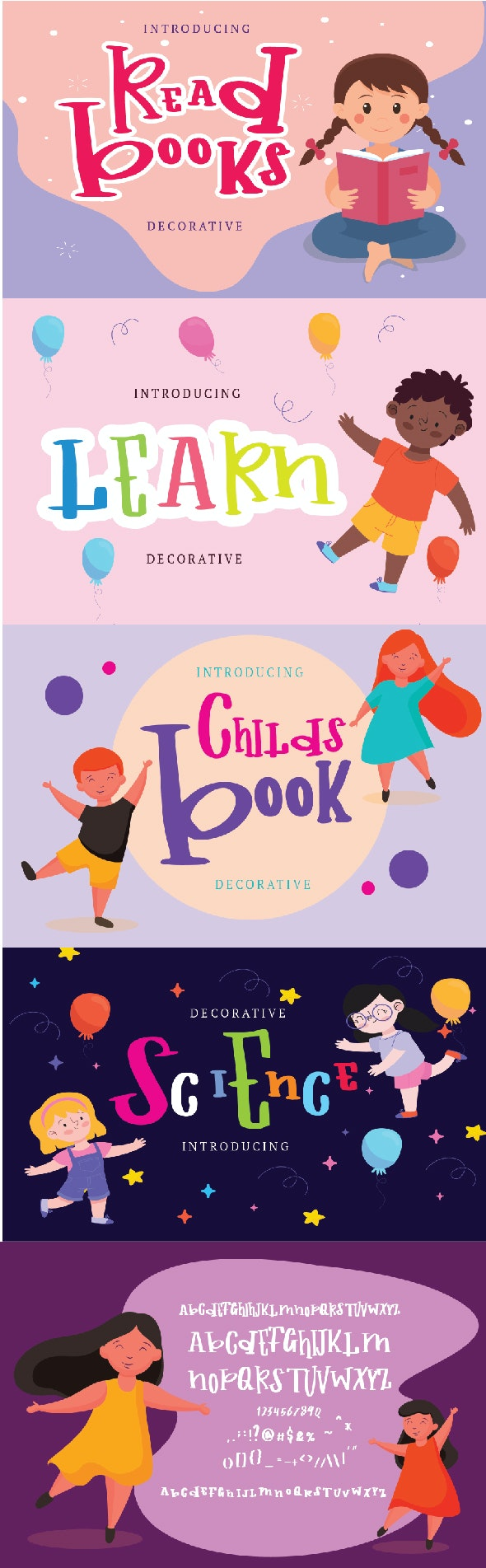 Childs Book - Decorative Fonts