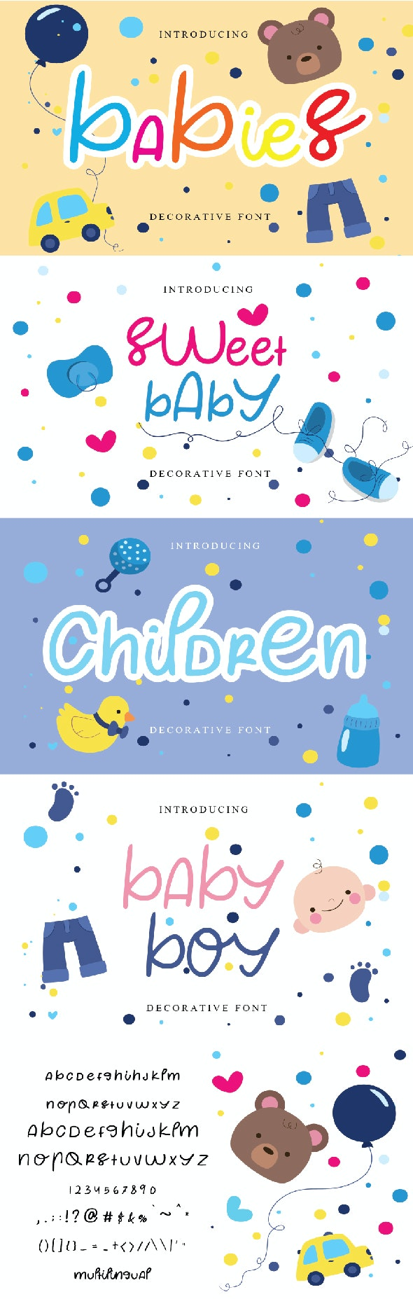 Babies - Decorative Fonts